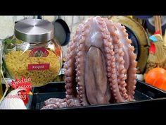 Χταπόδι κρασάτο Αγιορείτικο με κοφτό μακαρονάκι. - YouTube Seafood, Vegetables, Cooking, Youtube, Recipes, Sea Food, Kitchen, Vegetable Recipes