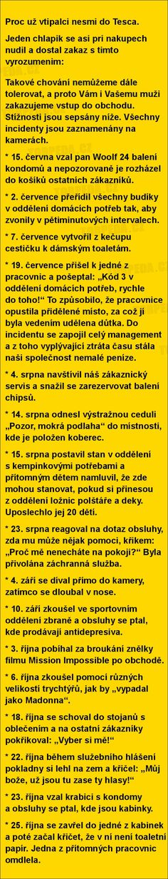 Proc už vtipalci nesmi do Tesca... | torpeda.cz - vtipné obrázky, vtipy a videa