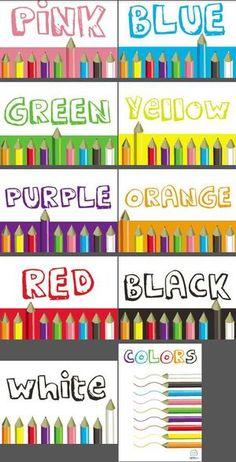 Colors Classroom Poster Series — Edgalaxy Kindergarten Classroom Decor, Diy Classroom Decorations, Classroom Layout, Classroom Walls, Classroom Posters, Teaching Kindergarten, Teaching Ideas, Preschool, Emergent Literacy