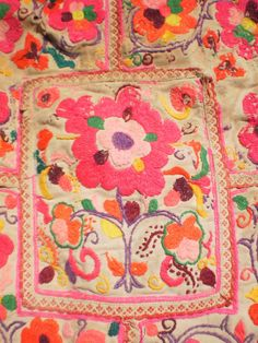 Embroided Tribal Textile Panel By The Hmong by KulshiMumkin, $16.00
