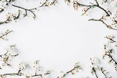 Floral frame with branches by Floral Deco on @creativemarket
