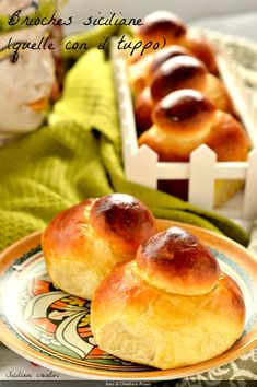 Sicilian Brioches (those with Tuppo) Baking Tins, Bread Baking, Gelato, Bon Appetit, Sicilian Recipes, Sicilian Food, Bun Recipe, Italian Cooking, Perfect Food