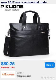 ed0878d328cb new 2017 man commercial male handbag genuine leather shoulder bags