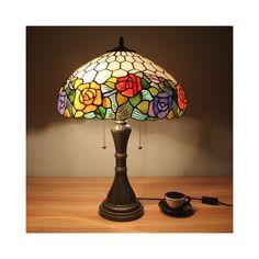 テーブルランプ ステンドグラスランプ 卓上照明 ティファニーライト 2灯