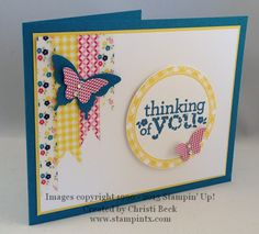 by Christi Beck, StampinTX: Washi Tape Meets Kind and Cozy Stamp Set