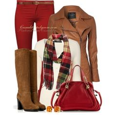 """Red Pants for Autumn"""
