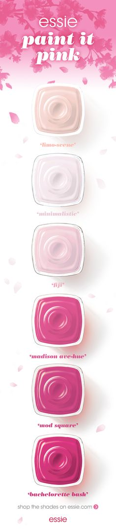 paint it pink with essie's hottest pink polishes.