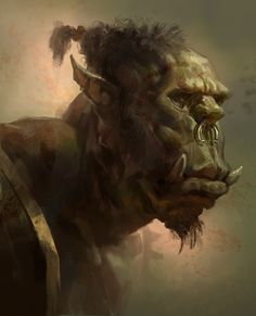 Orc head sketch by *MikeAzevedo on deviantART
