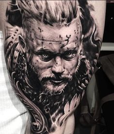 Amazing Ragnar tattoo