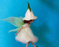 Needle felted fairy Waldorf inspired Dancing Flower by DreamsLab3