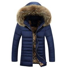 Brand Navy Parka Men 2017 Winter Jacket Men Fashion Design Big Fur Hooded Men's Long Down Jacket Coat male Manteau Homme Hiver