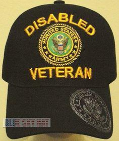 Licensed patch disabled u.s. army veteran vet dav military insignia logo cap  hat b439c8beee2