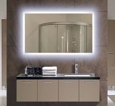 17 diy vanity mirror ideas to make your room more beautiful backlit bathroom lighted mirror size x x inches mozeypictures Image collections