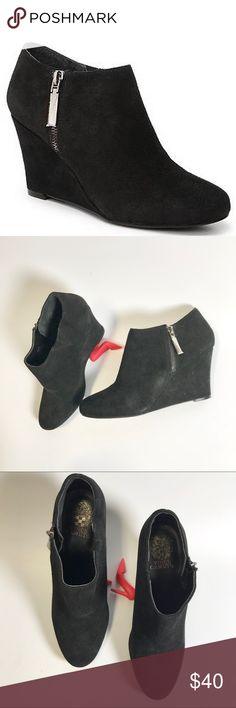New Isola  modern style  Zurich wedge suede  boots black   women/'s size 10