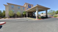Comfort Inn North Las Vegas Las Vegas This hotel is situated a short distance from Nellis Air Force Base and the Las Vegas city centre Strip, and features a variety of thoughtful amenities and facilities, all in a convenient location.
