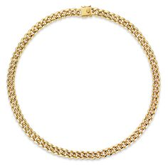 Sevil 8mm Solid Miami Cuban Link Chain Necklace in 18k Gold Brass24in. ($15) ❤ liked on Polyvore featuring jewelry, necklaces, jewelry & watches, yellow, yellow necklace, 18k gold necklace, 18k yellow gold necklace, 18k gold charms and charm necklaces