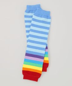 Look at this Blue & Rainbow Organic Leg Warmers on #zulily today!