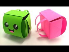 Como hacer una MOCHILA ORIGAMI de papel. Maleta facil Manualidades - YouTube Easy Paper Crafts, Diy Paper, Diy Crafts, Origami Easy, Origami Paper, Mini Mochila, Little Backpacks, Crafts For Kids, Arts And Crafts