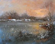 scenery paintings, winter