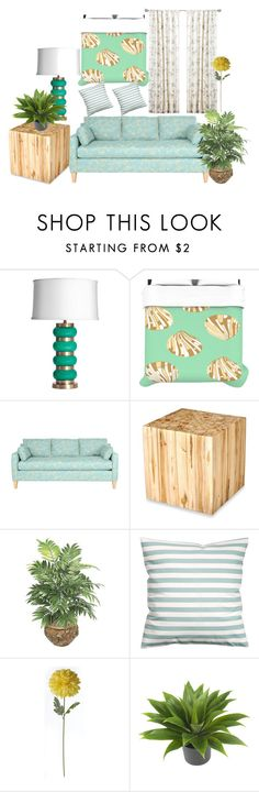 """Tropical Style"" by kikiseppr on Polyvore featuring interior, interiors, interior design, home, home decor, interior decorating, Emporium Home, Jeffan, H&M and Nearly Natural"