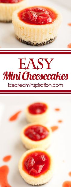 These easy mini cheesecakes have a delicious Oreo crust! They look so fancy, but are such an easy dessert! Top them with anything and you are ready to go!