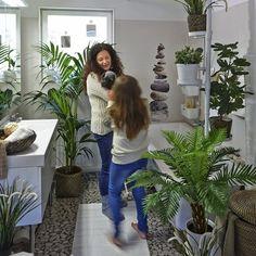 Badezimmer Im Garten-gestalten Tropische-pflanzen Design-elemente ... Badezimmer Fur Den Garten Gestalten