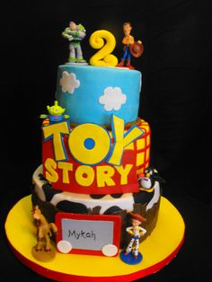 Toy Story - Many thanks to all the great Toy Story cakes here on CC.  Characters are small figures from the Disney Store, The rest if MMF.