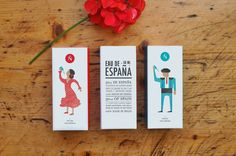 Packaging Eau de España. Happy fragance for him and for her. 100% made in Spain. 50 ml of Spain in a bottle with an exclusive fragance. Blend Happiness, sun and a dash of colour to get Spain.