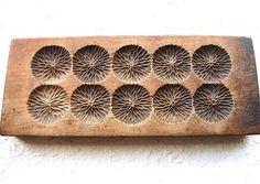 Vintage Japanese Kashigata Sweets Mold Mini Chrysanthemums Kiku. $55.00, via Etsy.
