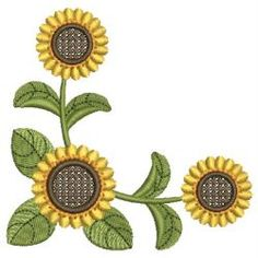 Sunflowers 02 machine embroidery designs