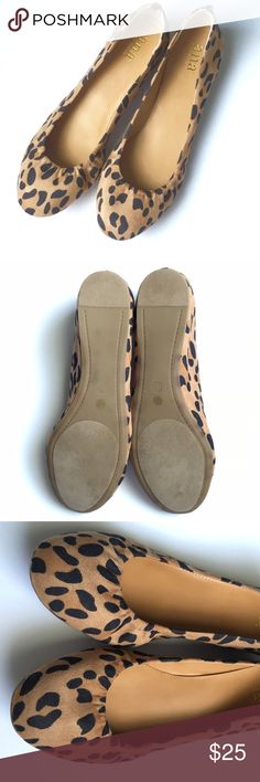NEW LISTING! Animal Print Ballet Flats New without tags! These have never been worn because they are too narrow for my wide feet. They have cushioned soles and are made of microsuede upper, so they are super comfy! Price negotiable; Bundles get 10% off! ❌No Trades❌ a.n.a Shoes Flats & Loafers