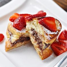 Nutella stuffed French Toast. I just died.