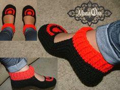 zapatillas de ganchillo uno Manie