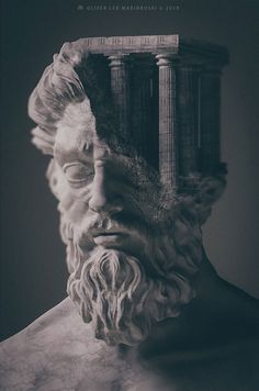 Artist Creates Sculptures Of Ancient Deities And Mythological Creatures With . - Artist Creates Sculptures Of Ancient Deities And Mythological Creatures With . Artist Creates Sculptures Of Ancient Deities And Mythological C. Renaissance Kunst, Vaporwave Art, Art Sculpture, Roman Sculpture, Text On Photo, Mythological Creatures, Photo Effects, Gods And Goddesses, Surreal Art