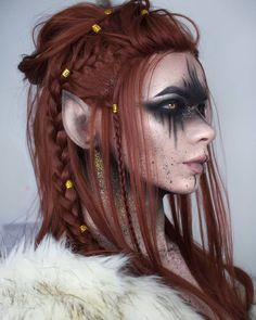 Halloween Makeup : Viking // Elven Warrior I've been meaning forever to do a Vi. Halloween Makeup : Viking // Elven Warrior I've been meaning forever to do a Viking inspired Cosplay Elf, Cosplay Makeup, Costume Makeup, Viking Cosplay, Viking Costume, Cosplay Dress, Elf Makeup, Makeup Art, Halloween Makeup