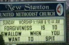 Scroll through this gallery of funny church signs and feast your eyes on all these clever and witty sayings. Description from doseoffunny.com. I searched for this on bing.com/images