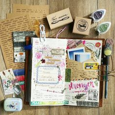 "Polubienia: 357, komentarze: 6 – Sharmane (@shacee) na Instagramie: ""The most exciting TN spread so far! Simply because I had new #stamps, #stickers and #washi to play…"""