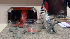 Anchor Hocking's Baked line ($10.99-$14.99) of glass bakeware aren't just inspired by your mother's Pyrex pans — they actually recreate archival forms beloved by the duo behind the Brooklyn bakery of the same name. The line includes baking pans, mixing bowls, and measuring cups and will be available in July.