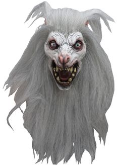 UHC Snow Wolf Monster Adult Latex White Moon Werewolf Halloween Costume Mask ** Learn more by visiting the image link. Halloween Kostüm, Halloween Costumes, Scary Costumes, Disney Costumes, Halloween Makeup, Maske Halloween, Latex, Halloween Animatronics, Snow Wolf
