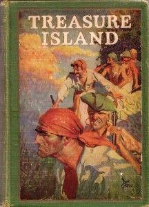 Treasure Island by Robert Louis Stevenson, Cover by Frank Godwin. Books For Boys, I Love Books, Good Books, My Books, Pirate Art, Pirate Life, Pirate Theme, Pulp Fiction, Treasure Island Robert Louis Stevenson