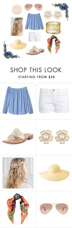 """""""Spring-Summer 2017 Picnic Outfit"""" by ceceliahamp on Polyvore featuring Frame, Jack Rogers, Columbia, Valentino, Ray-Ban and Christian Dior"""