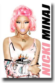 Nicki Minaj Poster Promo Poster $9.84 #NickiMinaj New Hip Hop Beats Uploaded  http://www.kidDyno.com