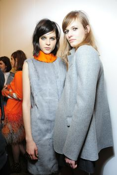 Backstage at Peter Som RTW Fall 2014 [Photo by Rodin Banica]