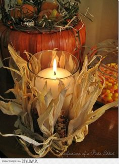 Autumn in candlelight.....