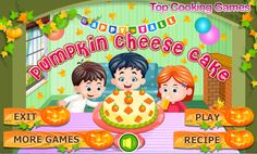 Play More Games, Cake Games, Cooking Games, Play Online, Pumpkin Cheesecake, Presents, Yummy Food, Learning, Recipes