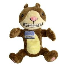 Scaredy Squirrel Plush Puppet from Melanie Watt books
