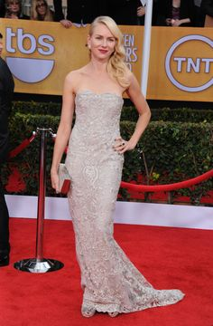Naomi Watts arrives at the 19th Annual Screen Actors Guild Awards at the Shrine Auditorium in Los Angeles on Jan. 27, 2013.