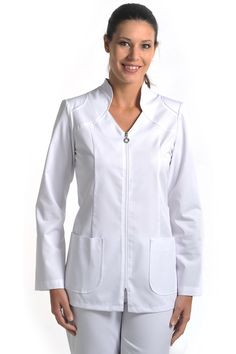 CHAQUETA,COMERCIO,ESTETICA, PELUQUERIA, ESTETICA, CUIDADO Y SALUD, SPA, PELUQUERIA, FARMACIA Spa Uniform, Scrubs Uniform, Dental Uniforms, Nurse Costume, Kurti Neck Designs, Uniform Design, Nursing Clothes, Casual Outfits, Clothes For Women