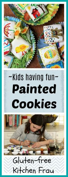 A fun project to do with kids of all ages. Cookie painting! This easy and edible craft makes great decorated cookies for any holiday.