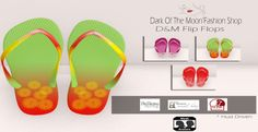 Summer Flip Flops Freebie At Vogue World. The flip flops shown here are from the Dark Of The Moon fashion shop. They are a freebie.